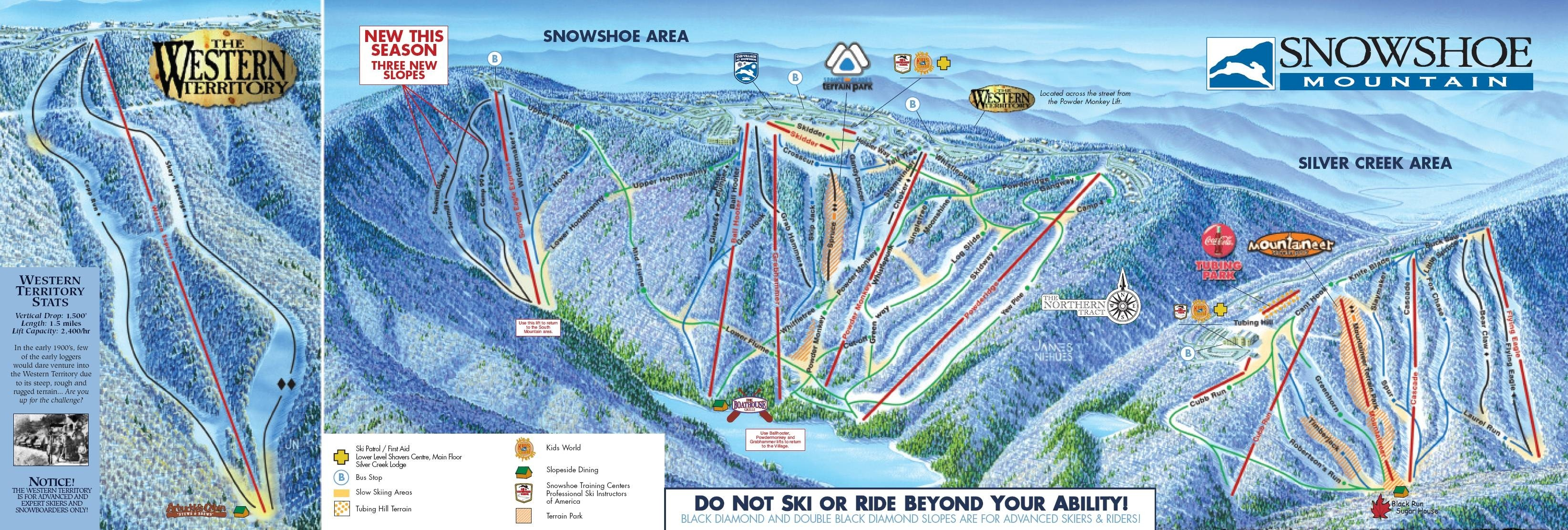 Snowshoe Mountain Trail Map Piste Map Panoramic
