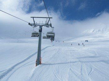 Hainbachjoch chair lift!