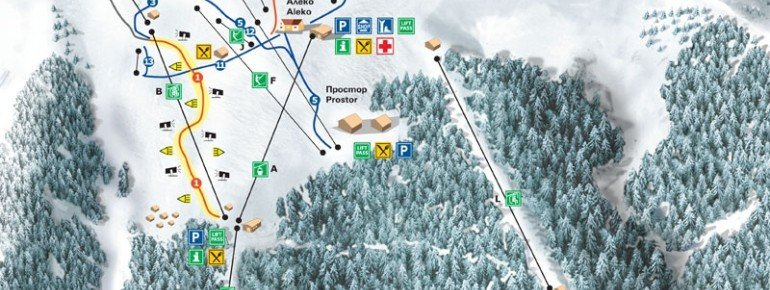Trail Map Sofia Vitosha