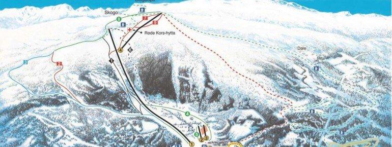 Trail Map Sogn Skisenter
