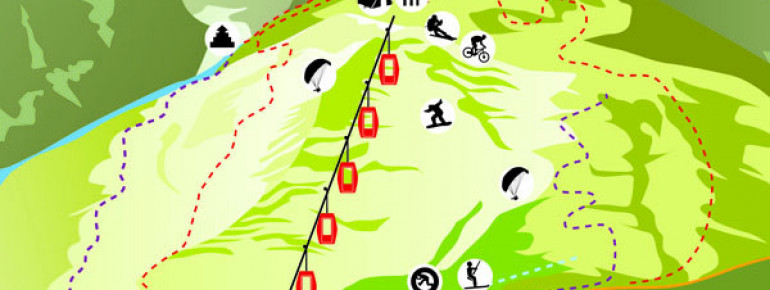Trail Map Solang Valley