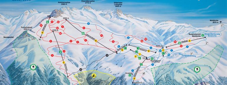 Trail Map Sonnenkopf Klostertal