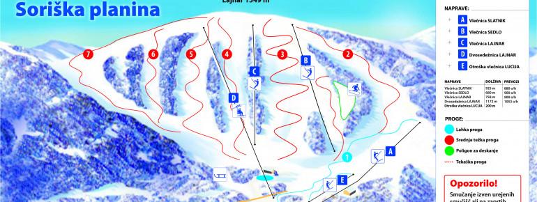 Trail Map Soriška Planina