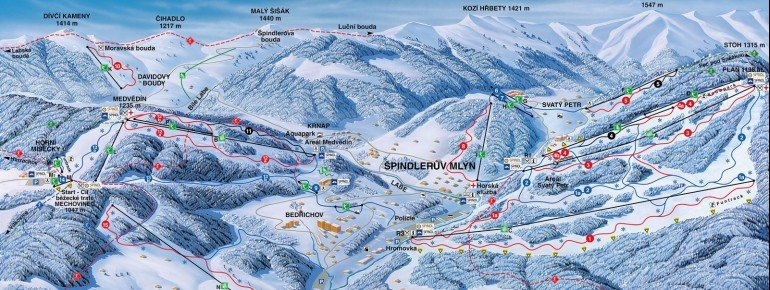 Trail Map Spindleruv Mlyn (Spindlermühle)