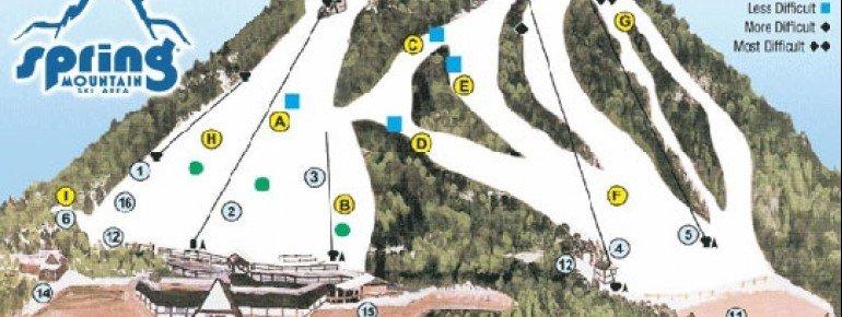 Trail Map Spring Mountain Ski Area