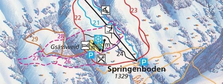 Trail Map Springenboden