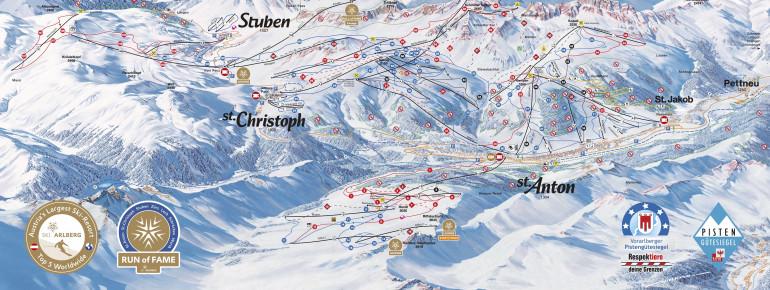 Trail Map St. Anton (Ski Arlberg)