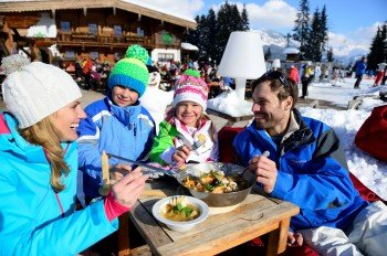 All the down-hill has made you hungry? How about a little break at Grander Schupf Hütte?
