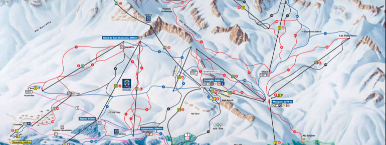 Trail Map St Moritz Corviglia