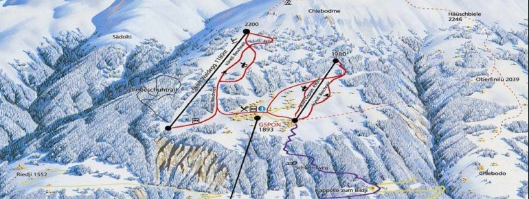 Trail Map Staldenried Gspon