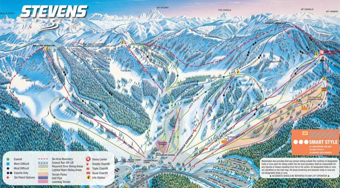 K2 Mountain Map Stevens Pass Ski...
