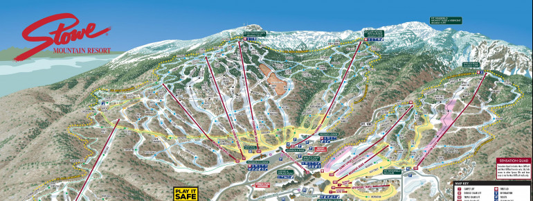 Trail Map Stowe Mountain Resort