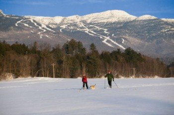 Cross-country skiing and snowshoeing are also available at Stowe.