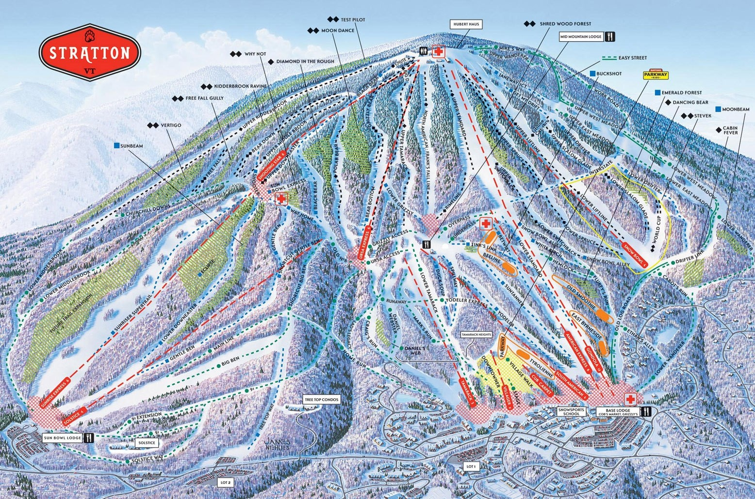 lifts. stratton mountain resort trail map • piste map • panoramic