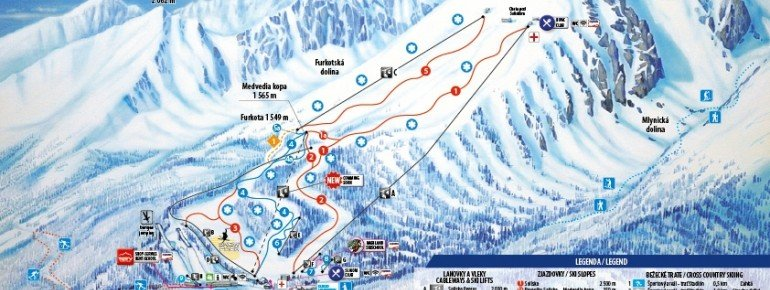 Trail Map Strbske Pleso