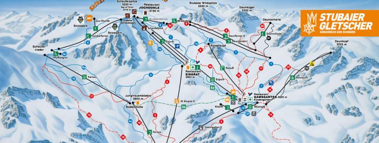Trail Map Stubai Glacier