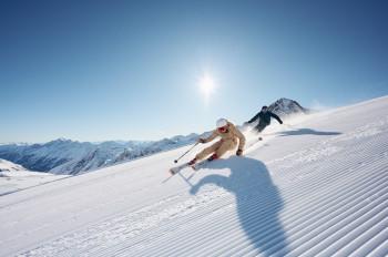 The Stubai Glacier is the largest glacier ski area in Austria.