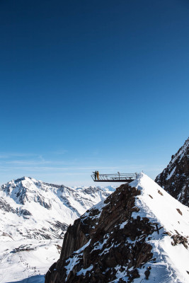 The Top of Tyrol viewing platform is located at an altitude of 3,210m.