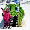 Entertainment is provided for the young skiers