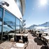 The sun terrace of the Schaufelspitz gourmet restaurant.