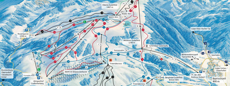 Trail Map Sudelfeld