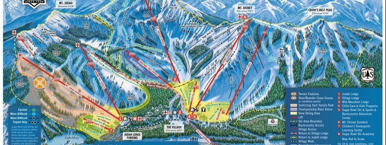 Trail Map Sugar Bowl Resort