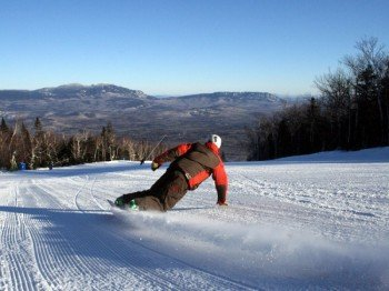 Enjoy the perfectly groomed slopes.