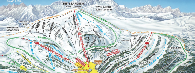 Trail Map Sunshine Village - Banff National Park