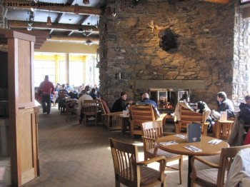 The restaurant at Sunshine Mountain Lodge is a nice place to hang out with family and friends while enjoying some neat dishes.