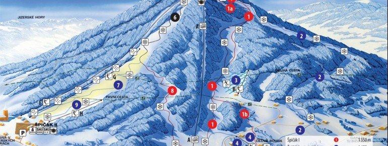 Trail Map Tanvaldsky Spicak