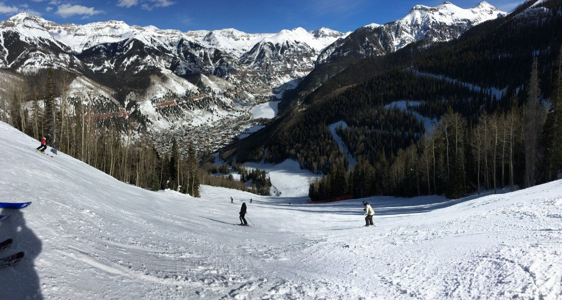 The Ski Resort View From San Sophia Outlook Towards Black Diamond Trail Milk Run Both Free Gondola