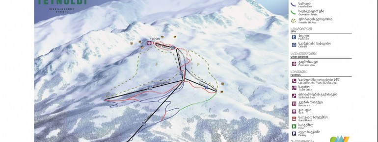Trail Map Tetnuldi - Mestia