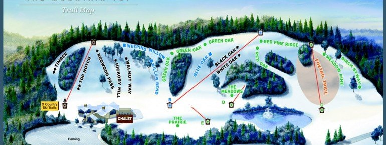 Trail Map The Mountain Top at Grand Geneva Resort