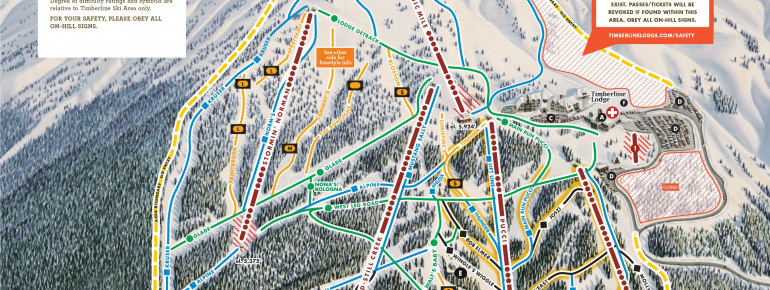 Trail Map Timberline Lodge Ski Area