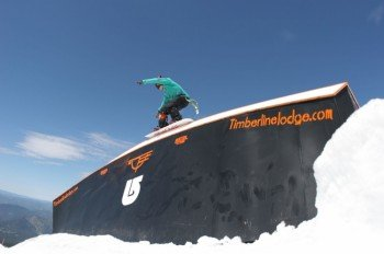 Timberline Lodge features 5 terrain parks.