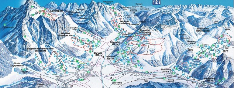 Trail Map Tiroler Zugspitz Arena