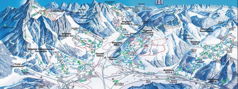 Trail Map Tiroler Zugspitzarena