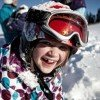 Kids learn how to ski at the local ski schools.