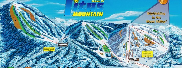 Trail Map Titus Mountain