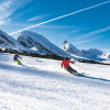 Over 50 kilometers of groomed runs await skiers and snowboarders here.