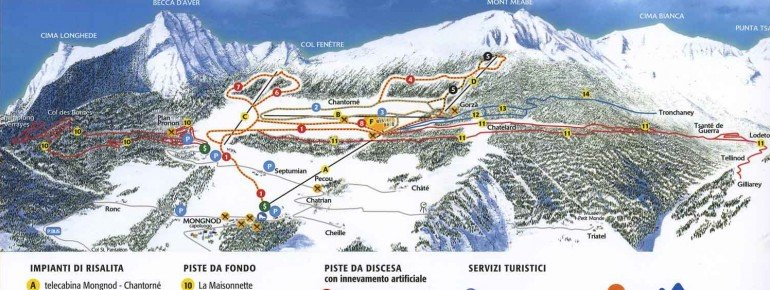 Trail Map Torgnon