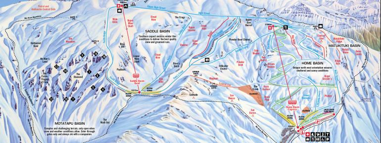 Trail Map Treble Cone
