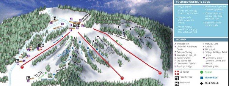 Trail Map Treetops Resort