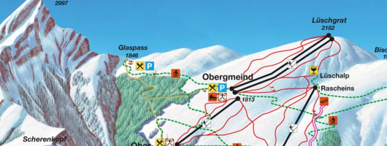 Trail Map Tschappina - Heinzenberg