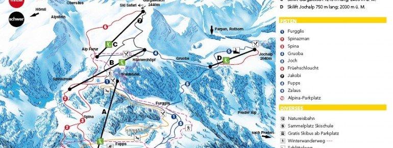Trail Map Tschiertschen Schanfigg