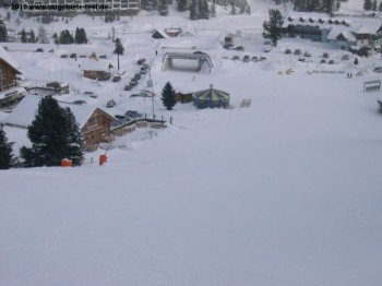 The mountain village at Turracher Höhe is really snowy.