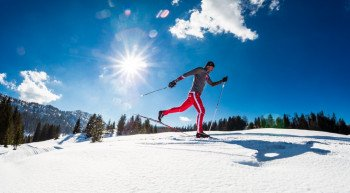 Ruhpolding is one of the cross-country skiing hotspots in the Bavarian Alps with more than 150 kilometres of trails.