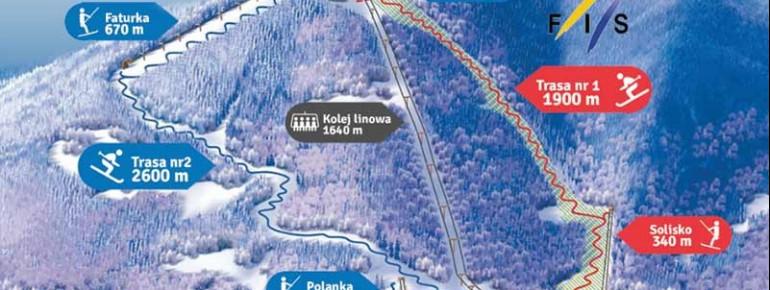 Trail Map Ustron Czantoria