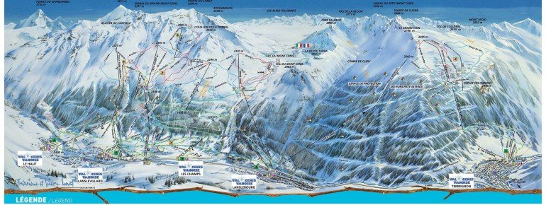 Trail Map Val Cenis