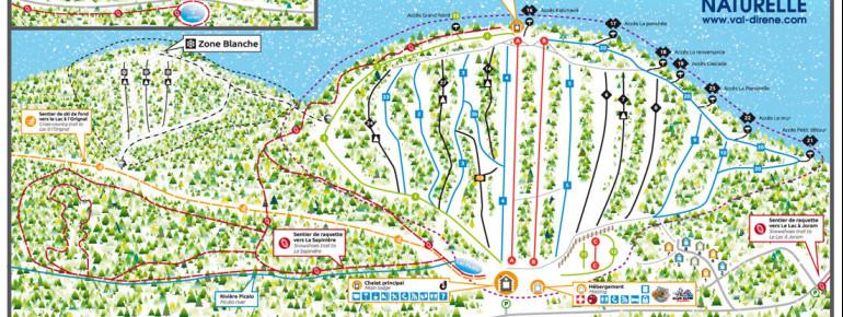 Trail Map Regional Park Val-d'Irène